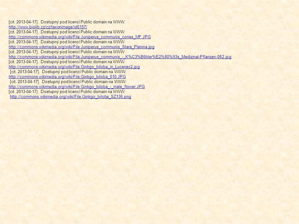 [cit. 2013-04-17]. Dostupný pod licencí Public domain na WWW: